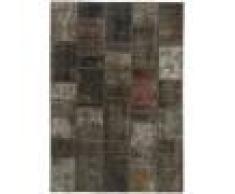 Nain Trading Tappeto Patchwork 203x143 Moderna/Design Grigio Scuro/Marrone Scuro (Annodato a mano, Lana, Persia/Iran)