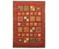 Nain Trading Tappeto Gabbeh Loribaft Design 240x171 Marrone/Arancione (India, Annodato a mano, Lana)