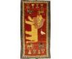 Nain Trading Tappeto Persia Gabbeh Vecchio 225x114 Moderna/Design Corridore Grigio Scuro/Giallo (Annodato a mano, Lana, Persia/Iran)