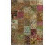Nain Trading Tappeto Patchwork 201x137 Moderna/Design Beige/Marrone (Annodato a mano, Lana, Persia/Iran)