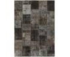Nain Trading Tappeto Patchwork 204x145 Moderna/Design Grigio Scuro/Marrone Scuro (Annodato a mano, Lana, Persia/Iran)