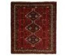 Nain Trading Tappeto Ghashghai 186x170 Moderna/Design Quadrato Grigio Scuro/Marrone Scuro (Annodato a mano, Lana, Persia/Iran)