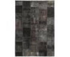 Nain Trading Tappeto Patchwork 198x140 Moderna/Design Grigio Scuro/Marrone Scuro (Annodato a mano, Lana, Persia/Iran)