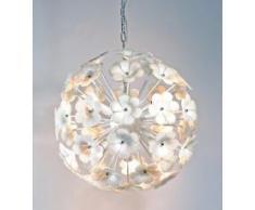 lampadario a palla : Lampadario a forma di palla a fiori in vetro S10019-7A