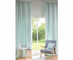 Tenda blu in cotone con occhielli 130x300 cm ANDY