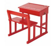 Piccola scrivania rossa per bambini Pupitre