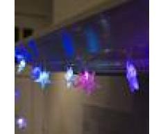 Kaemingk Luci natalizie STELLE 30 a LED colorati 4 metri