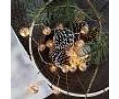 Kaemingk Luci natalizie BALL 20 bianco caldo a LED 4 metri