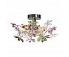Trio Leuchten Plafoniera 'Fiore 2 ' classico cromo - adatta per LED / interna