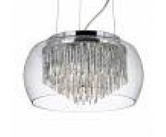 Searchlight Lampada sospensione vetro Curva design glamour