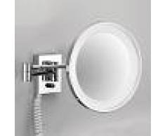 Decor Walther POINT - specchio cosmetico da parete, cromo