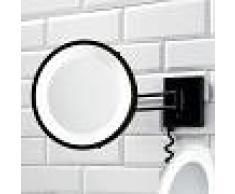 Decor Walther Specchio cosmetico BS 25 nero, 5x