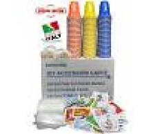 Eurochibi Kit Accessori Caffè Con 150 Bustine Di Zucchero + 150 Bicchierini + 150 Palettine - ® Linea Alta Qualità