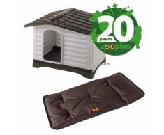 Set Ferplast Cuccia per cani Dogvilla + Cuscino Jolly marrone - Cuccia Dogvilla 110 + Cuscino Jolly L 100 x P 65 x H 3 cm