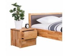 Comodino in legno da 2 cassetti - CARRIS ARRAS