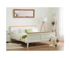 Letto matrimoniale moderno in legno bianco 180x200cm OLIVET