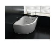 Vasca con idromassaggio e LED angolare bianca versione sinistra PARADISO
