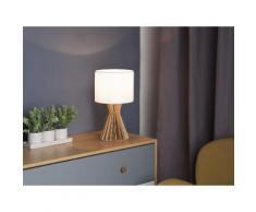 Lampada da tavolo in legno color bianco CARRION