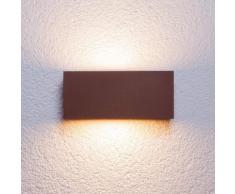 Applique parete Bente, angolare, esterni, ruggine