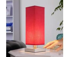 Julina - lampada da comodino con diffusore rosso