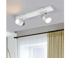 Faretto Kardo a 2 luci, IP44 a parete e a soffitto
