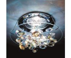 Lampada incasso soffitto in cristallo Ice, cromo