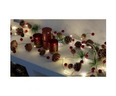 Lampadine di Natale GloBrite: 20 LED con pigne e frutta rossa / 2x lampadine