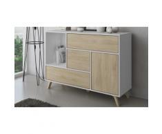 Mobili da soggiorno: Credenza / Bianco - Quercia