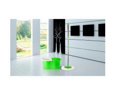 Scopa magica rotante verde con secchio