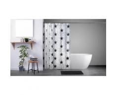 Set con tenda provvista di anelli e tappetino da bagno: Star