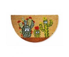Zerbino in cocco: Cactus fiori rossi