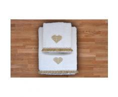 Asciugamani Heart: Bianco / 1 set