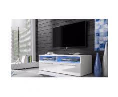 Mobile TV Selsey Living: Bianco-Bianco lucido / Siena
