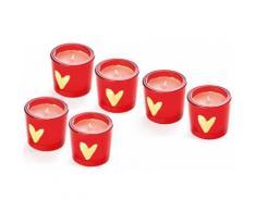 Set 6 candele Warm Heart
