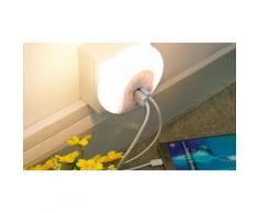 : 1 Luce notturna LED con sensore e Dual USB