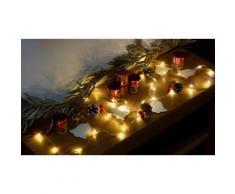 Lampadine di Natale GloBrite: 30 LED con pigne e campanelline / 2x lampadine