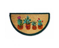 Zerbino in cocco: Cactus fiori rosa