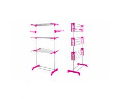 :Stendibiancheria verticale a 3 livelli - Fucsia