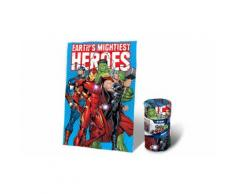 Coperta in morbido e caldo pile misure 150x100 cm per Bambini Avengers