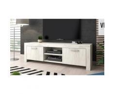 Mobile porta TV River: Quercia bianca / 140 cm