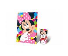 Coperta in morbido e caldo pile misure 150x100 cm per Bambini Minni Mouse