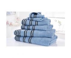 Set di 6 asciugamani Sirocco Rapport Home: Denim