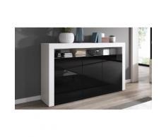 Mobili da soggiorno: Comò / Bianco - Nero lucido