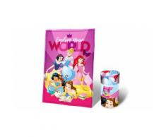 Coperta in morbido e caldo pile misure 150x100 cm per Bambini Princess Disney