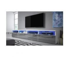 Mobile TV Selsey Living: Bianco-Grigio lucido / Siena Double