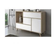 Mobili da soggiorno: Credenza / Quercia - Bianco