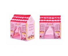 Tenda da gioco casetta della principessa rosa