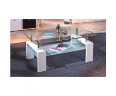 Tavolino a doppio ripiano in vetro