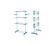 :Stendibiancheria verticale a 3 livelli - Azzurro