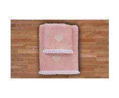 Asciugamani Heart: Rosa / 1 set